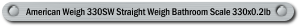 American Weigh 330SW Straight Weigh Bathroom Scale 330x0.2lb