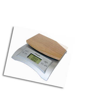 Avia Digital Scale, 11 Lb / 5 Kg, Natural Wood