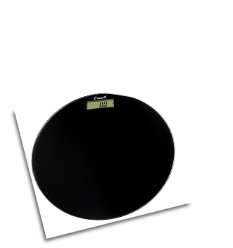 Glass Platform Bathroom Scale Black