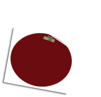 Glass Platform Bathroom Scale Rio Red