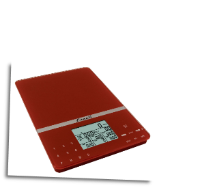 Cesto Portable Nutritional Tracker, 11 Lb / 5 Kg, Warm Red
