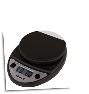 Primo Digital Scale, 11 Lb / 5 Kg, Black
