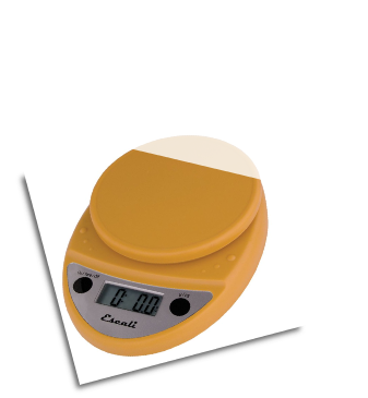 Primo Digital Scale, 11 Lb / 5 Kg, Mustard Yellow