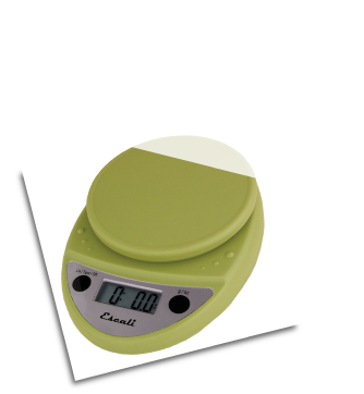 Primo Digital Scale, 11 Lb / 5 Kg, Terragon Green