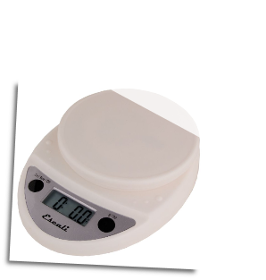 Primo Digital Scale, 11 Lb / 5 Kg, White