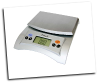 Avia Digital Scale, 11 Lb / 5 Kg, Silver Gray