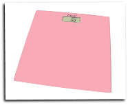 Glass Platform Bathroom Scale Soft Pink