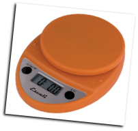Primo Digital Scale, 11 Lb / 5 Kg, Pumpkin Orange (SKU: P115PO Primo)