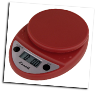 Primo Digital Scale, 11 Lb / 5 Kg, Warm Red (SKU: P115WR Primo)