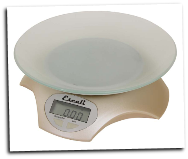 Avia Digital Scale, 11 Lb / 5 Kg, Frosted Almond