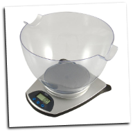 American Weigh HB-6 Kitchen Bowl Scale 5.5lb x 0.1oz