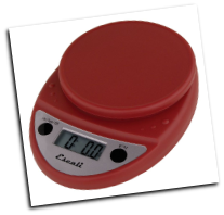 Primo Digital Scale, 11 Lb / 5 Kg, Warm Red